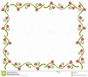 Valentine's Day Heart Flower Vine Frame Stock Illustration Image: 3909584