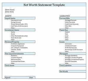 Personal assets and liabilities template idealvistalistco for Asset and liability statement template