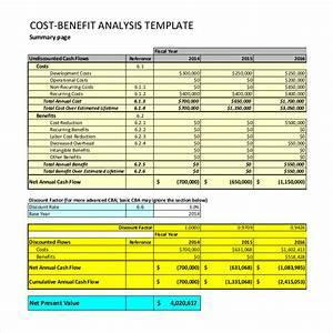 cost benefit analysis template 11 free pdf word With business plan cost analysis template