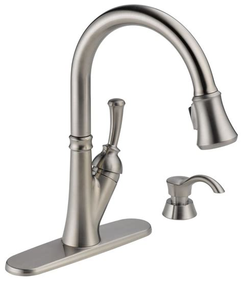 Delta Savile Faucet by Faucet 19949 Sssd Dst In Brilliance Stainless By Delta