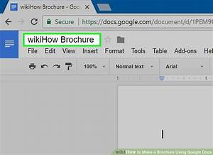 How To Make A Brochure Using Google Docs  With Pictures