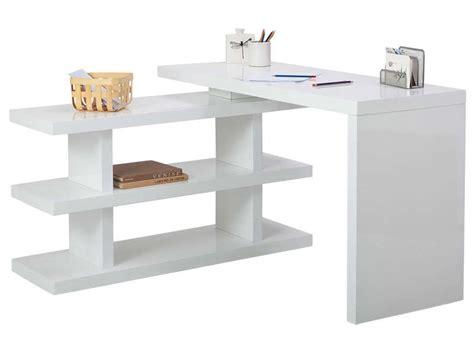 bureau pivotant bureau volta 2 coloris blanc vente de bureau conforama