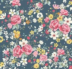 Floral wallpaper.   Patterns   Pinterest   Floral pattern ...