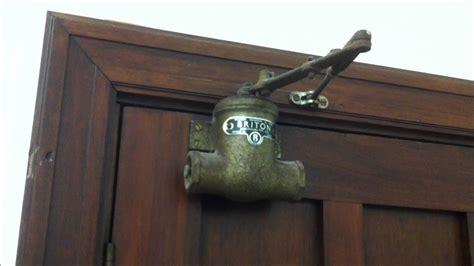 briton vintage automatic door closer youtube