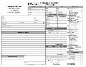 hvac service report template mickeles spreadsheet sample With hvac service invoice template