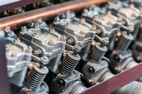 Old Car Internal Combustion Engine Stock Image