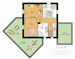 maison moderne detail du plan de maison moderne faire With plan maison demi etage 3 plan de maison contemporaine exemple de maison moderne