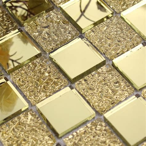 Tile Sheets For Bathroom Walls by Glass Mirror Mosaic Tile Sheets Gold Mosaic Bathroom