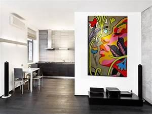 Tableau Design Salon : tableau street art modern art pas cher d coration murale hexoa ~ Teatrodelosmanantiales.com Idées de Décoration