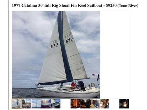 Craigslist Boats For Sale Jersey Shore by 1977 30 Rig Sailboat For Sale In New Jersey