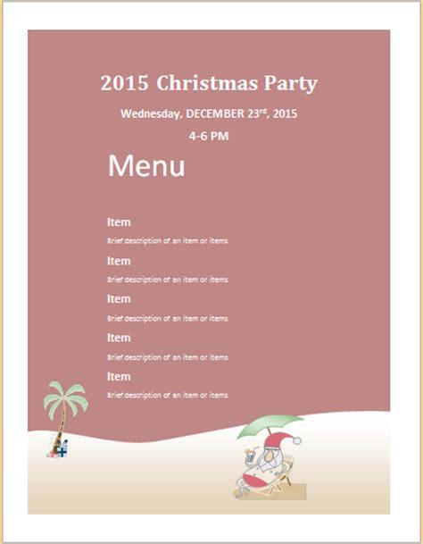 christmas party menu menu sheet template ms word word excel templates