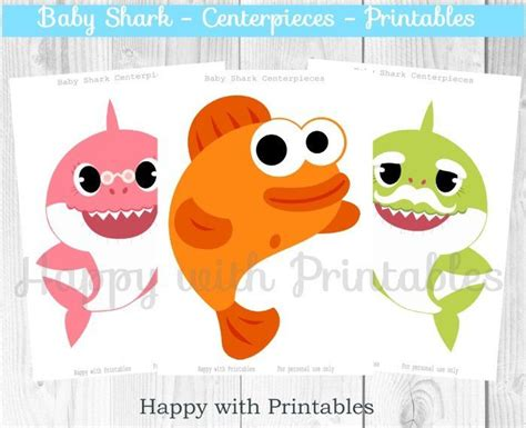 baby shark centerpieces shark centerpieces baby shark