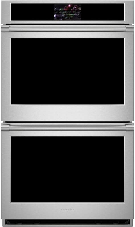 monogram  double electric wall oven stainless steel ztddpsnss wall oven stainless steel
