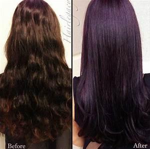 25 Dark Purple Hair Color Long Hairstyles 2016 2017