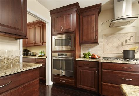Staining Kitchen Cupboards by Wood Stained Cabinet Finishing Process