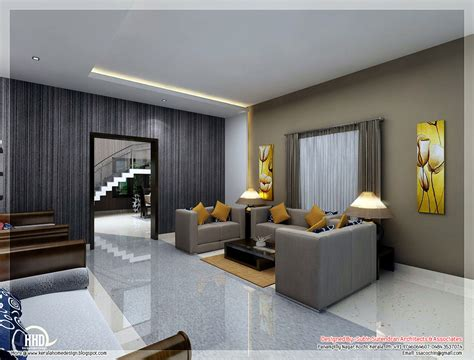 awesome  interior renderings kerala house design