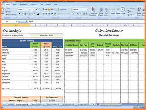 rent payment tracker spreadsheet excel spreadsheets
