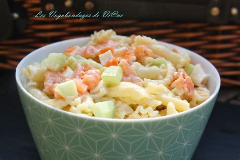 salade de p 226 tes saumon surimi concombre par les vagabondages de vi ne