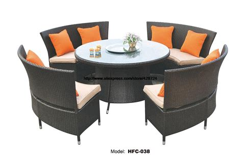 creative outdoor furniture rattan sofa chair table set 1