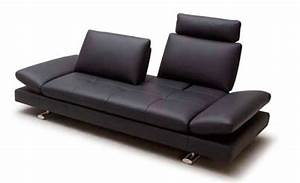 Black leather sofa bed kuka 1510 sofa beds for Kuka sectional leather sofa