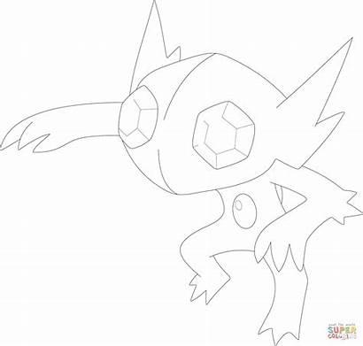 Sableye Coloring Pokemon Mega Ausmalbilder Colorare Colorir