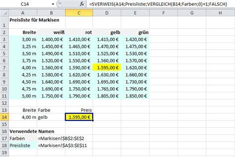 sverweis mit variabler spaltenangabe  excel  service