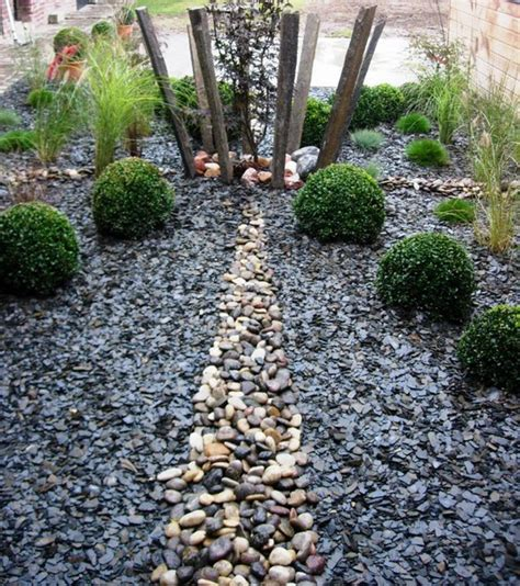 arbuste de decoration exterieure d 233 coration jardin avec ardoise