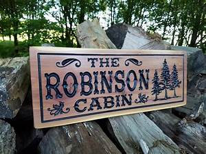 Cabin, Signs, Wooden, Signs, Custom, Outdoor, Name, Sign, Personalized, Wooden, Signs, Custom, Wood, Signs