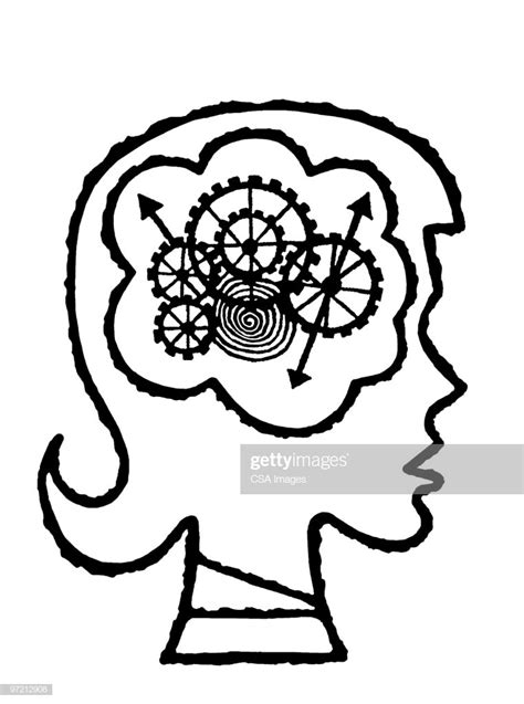 Brain Cogs Stock Illustration | Getty Images