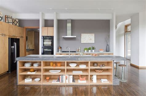 kitchen island with open shelves kitchen island in and concrete with open wooden