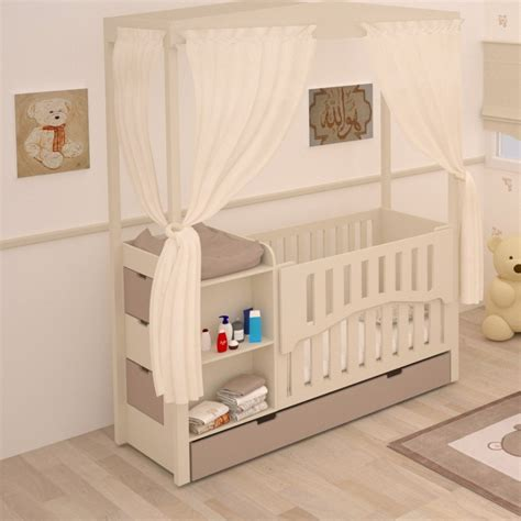 meuble chambre de bébé lit bébé combiné évolutif meuble de rangement chambre