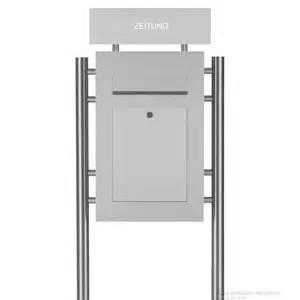 designer briefkasten edelstahl standbriefkasten designer briefkasten style zeitungsfach