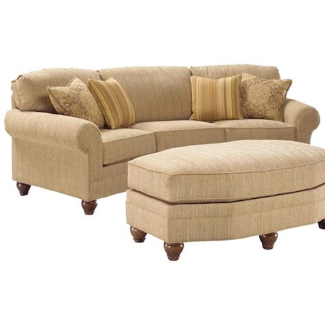 Curved Loveseats by Fairfield 3768 Curved Arch Sofa Belfort Furniture