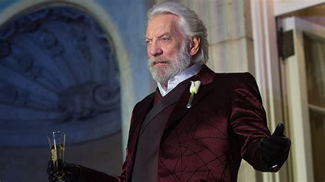 donald sutherland president snow the hunger games catching fire exclusive president snow