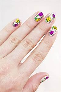 Freehand Fun Floral Nail Art for Spring | more.com