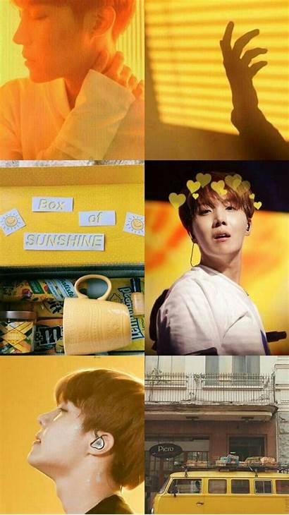 Bts Aesthetic Yellow Hoseok Wallpapers Kpop Jhope
