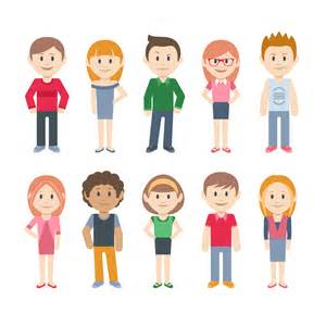 Cartoon Character People Vector