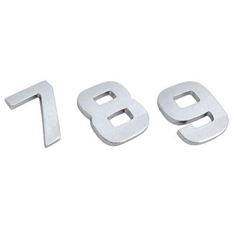 Adesivi Lettere by Adesivi Lettere E Numeri Int Auto Cromato 18mm