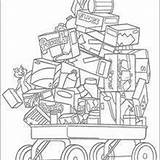 Coloring Hedge Rj Pages Verne Cart Hellokids Drawing sketch template
