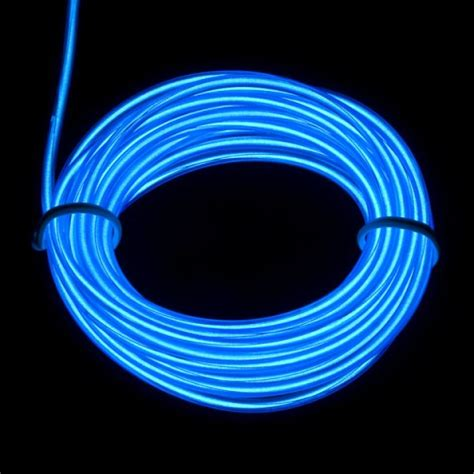 thick wire 5 0 mm blue glow el wires get a led com