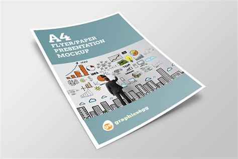 Flyer Mockup A4 Flyer Mock Up Set V 1 Product Mockups On Creative Market
