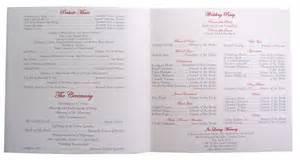 wording for wedding programs 8 best images of different wording for wedding programs wedding program memorial wording