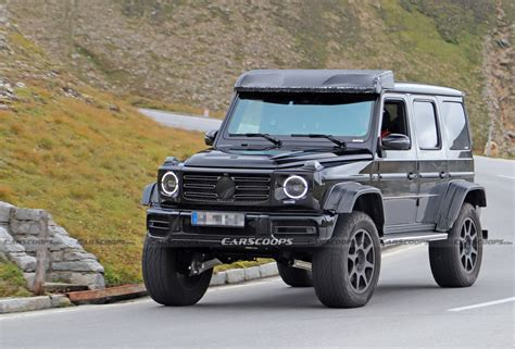 It has a ground clearance of 241 mm and dimensions is 4817 mm l x 1984 mm w x 1969 mm h. 2021 Mercedes-AMG G-Class 4x4² Spied Undisguised, Looks Every Bit As Wild As The Original ...
