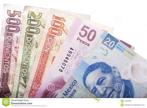 mexican money stock image image  green macro mexican