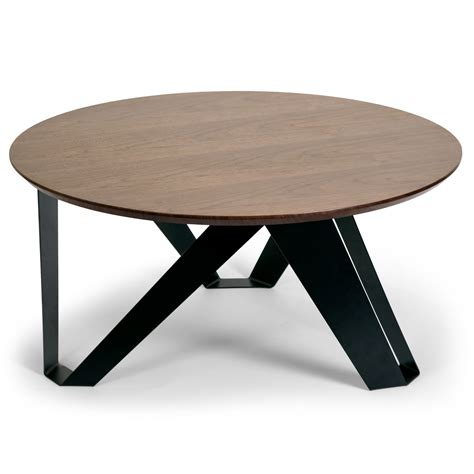 I have been wanting to build a round coffee table for a while, i just wasn't sure about the design. Glamour Home Decor Aimi Round Coffee Table   Wayfair.ca