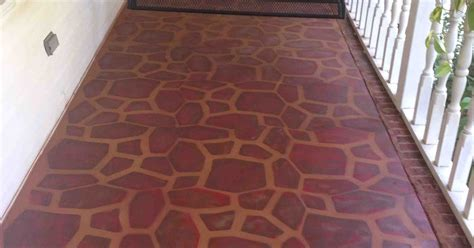 painted concrete porch   stone stencil hometalk