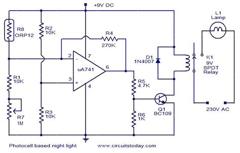 photocell based light electronic circuits and