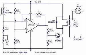Photocell Based Night Light Circuit Diagram World