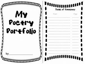 rockin resources poetry portfolio with adorable templates With poetry booklet template