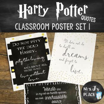 harry potter quotes classroom posters   js place tpt